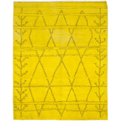 One-of-a-Kind Courter Hand-Knotted Wool Yellow Area Rug