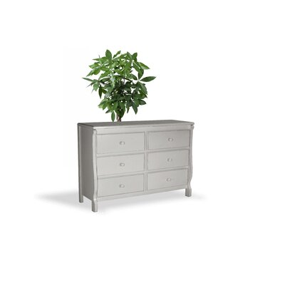 Barley Wood 6 Drawer Dresser Color: White