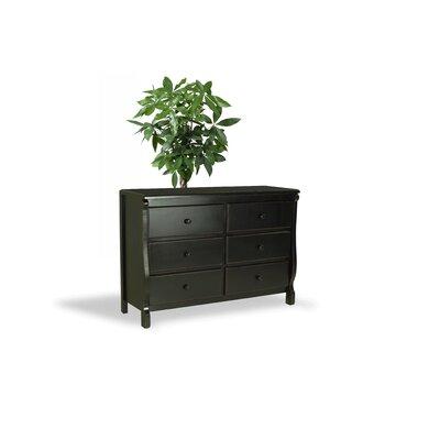 Barley Wood 6 Drawer Dresser Color: Black