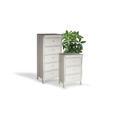 Barley Wood Drawer Dresser Color: White