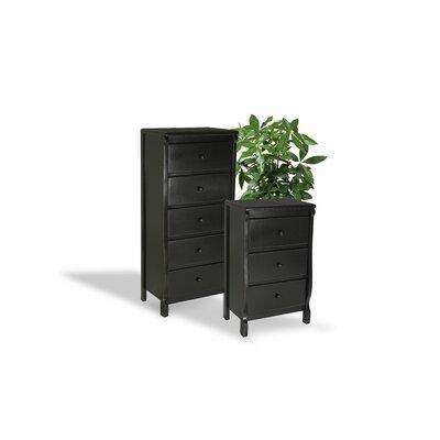 Barley Wood Drawer Dresser Color: Black