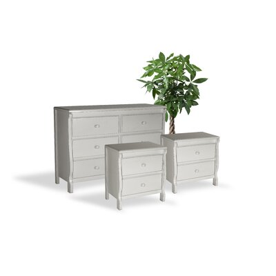 Bachelder Wood 3 Piece Dresser and Chest Set Color: White