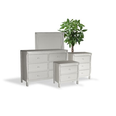 Bachelder Wood 4 Piece Dresser and Chest Set Color: White
