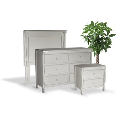 Bachelder High Quality All Wood 3 Piece Bedroom Set Finish: White