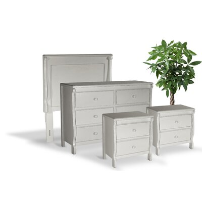 Bachelder High Quality All Wood 4 Piece Bedroom Set Finish: White