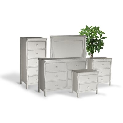 Bachelder High Quality All Wood 5 Piece Bedroom Set Finish: White