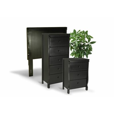Bachelder High Quality All Wood 3 Piece Bedroom Set Finish: Black