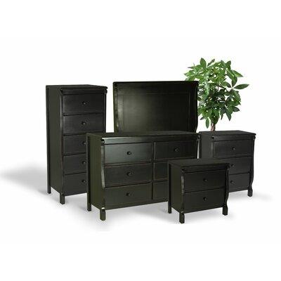 Bachelder High Quality All Wood 5 Piece Bedroom Set Finish: Black