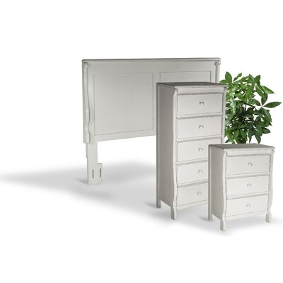 Bachelder Queen Panel 3 Piece Bedroom Set Color: Antique White