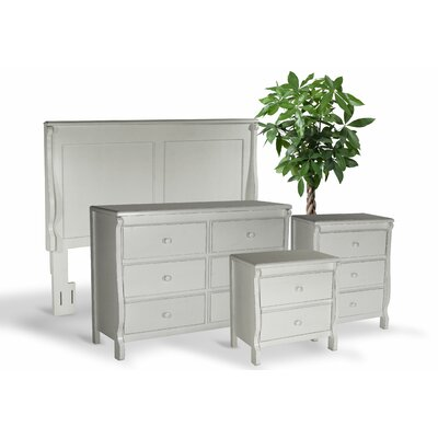 Bachelder Queen Panel 4 Piece Bedroom Set Color: Antique White