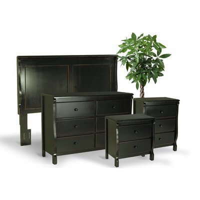 Leishman Queen Platform 4 Piece Bedroom Set Color: Antique Black