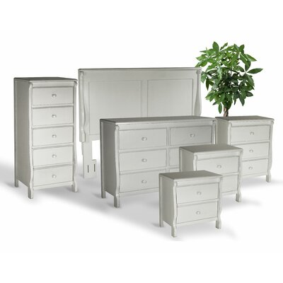 Bachelder Queen Panel 6 Piece Bedroom Set Color: Antique White