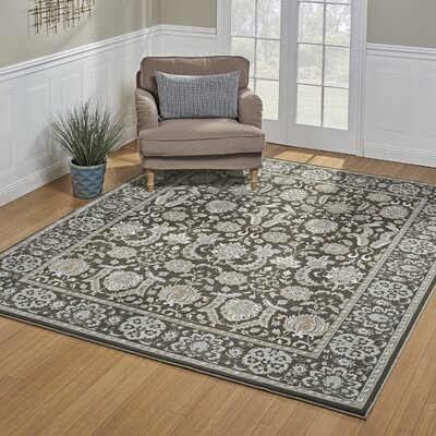 John Deep Taupe Area Rug Rug Size: Rectangle 53 x 75