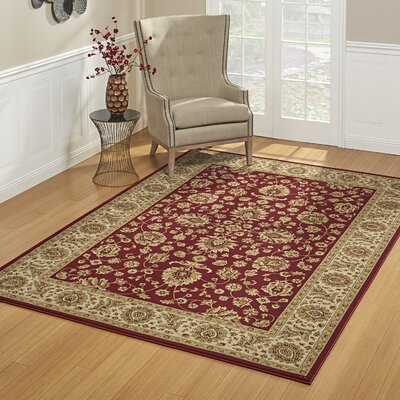 John Red Area Rug Rug Size: Rectangle 53 x 75