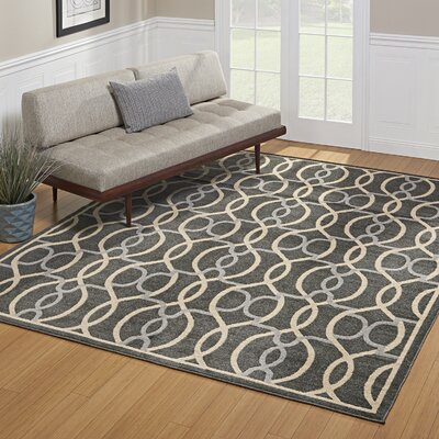 Abraham Charcoal Gray Indoor/Outdoor Area Rug Rug Size: Rectangle 53 x 7