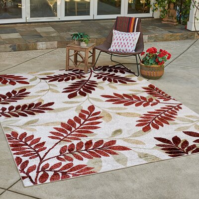Alvin Ivory Indoor/Outdoor Area Rug Rug Size: Rectangle 53 x 7
