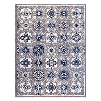 Burnell Blue/Gray Indoor/Outdoor Area Rug Rug Size: Rectangle 53 x 7