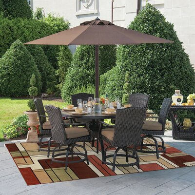 Ambrose Gold/Green Indoor/Outdoor Area Rug Rug Size: Rectangle 53 x 7