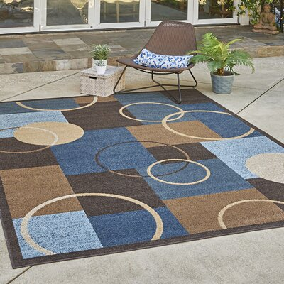 Penbrook Blue Indoor/Outdoor Area Rug Rug Size: Rectangle 53 x 7