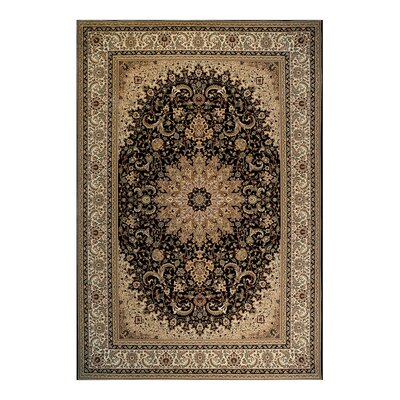 Avenue33 Sheffield Black Area Rug Rug Size: 66 x 96