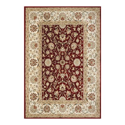 Majestic Cambridge Red Area Rug Rug Size: 53 x 75