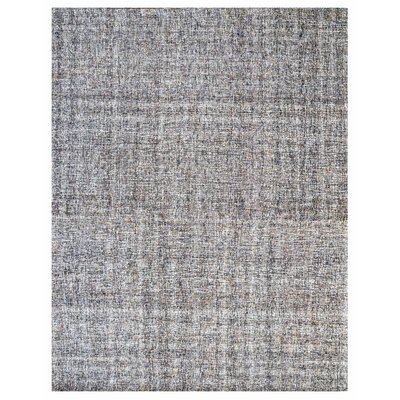 Texture Wool Hand-woven Taupe/ivory Area Rug Rug Size: 5