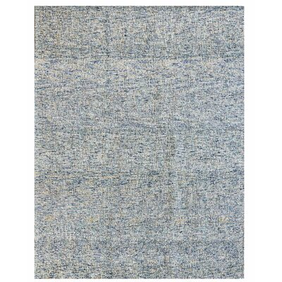 Texture Wool Hand-Woven Blue/Ivory Area Rug Rug Size: 8 x 10