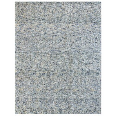 Texture Wool Hand-Woven Blue/Ivory Area Rug Rug Size: 5 x 7
