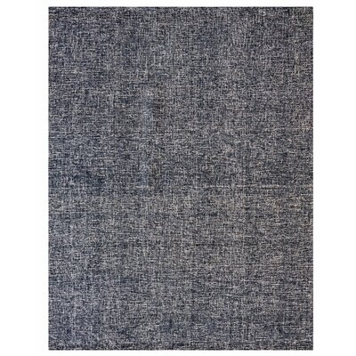 Texture Wool Hand-Woven Midnight Blue Area Rug Rug Size: 8 x 10