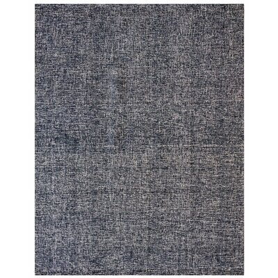Texture Wool Hand-Woven Midnight Blue Area Rug Rug Size: 5 x 7