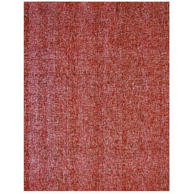 Texture Wool Hand-woven Red Area Rug Rug Size: 8