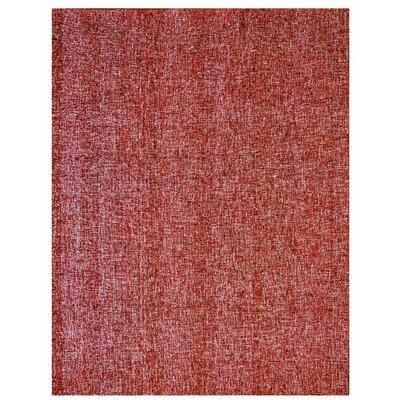 Texture Wool Hand-Woven Red Area Rug Rug Size: 5 x 7