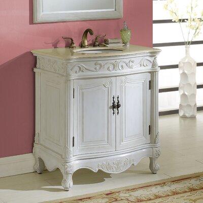 Alexis 32 Single Bathroom Vanity Set Base Finish: Antique White