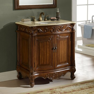 Alexis 32 Single Bathroom Vanity Set Base Finish: Teak
