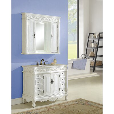 Alexis 42 Single Bathroom Vanity Set Base Finish: Antique White