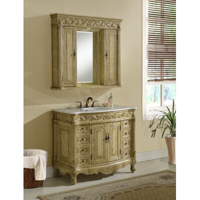 Alexis 42 Single Bathroom Vanity Set Base Finish: Tan