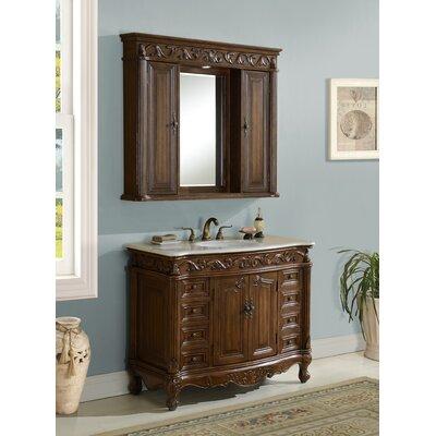 Alexis 42 Single Bathroom Vanity Set Base Finish: Teak