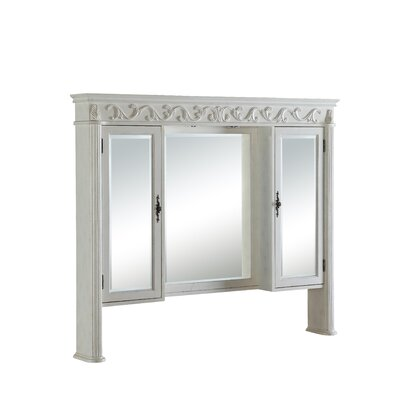 Alexis 60 x 50 Surface Mount Medicine Cabinet with Lighting Finish: Antique White