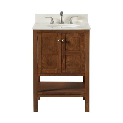 Middleburg 24 Single Bathroom Vanity Set Base finish: Walnut