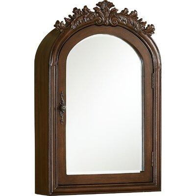 Willesden Arched Bathroom / Vanity Mirror Finish: Teak