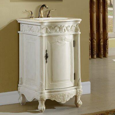 Alexis 21 Single Bathroom Vanity Set Base finish: Antique White