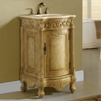 Alexis 21 Single Bathroom Vanity Set Base finish: Tan