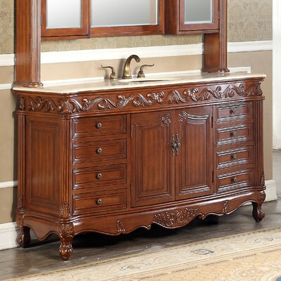 Alexis 60 Single Bathroom Vanity Set Base finish: Teak