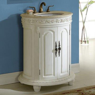 Willesden 30 Single Bathroom Vanity Set Base finish: Antique White