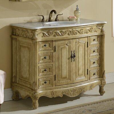 Alexis 48 Single Bathroom Vanity Set Base finish: Tan