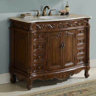 Alexis 48 Single Bathroom Vanity Set Base finish: Teak