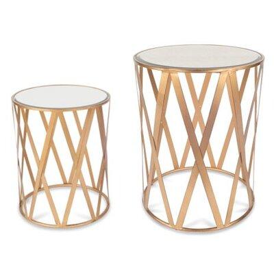 Alecto Drum 2 Piece End Table