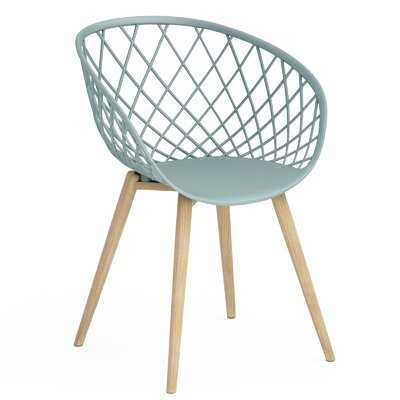 Brower Dining Chair Color: Cool Sage/Natural