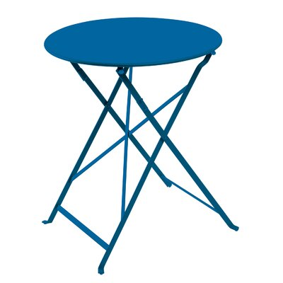 Fennell Patio Round Folding Powder Coated Steel Bistro Table 4224 Product Photo