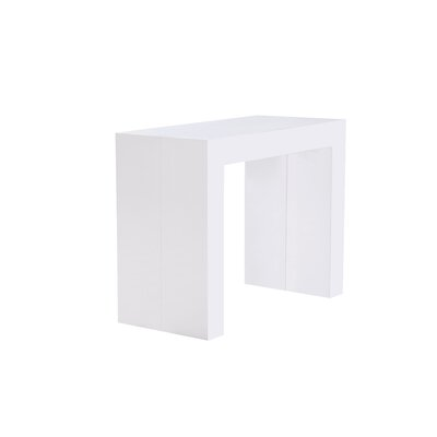 Lizbeth Space Saving Dining Table Finish: White Gloss